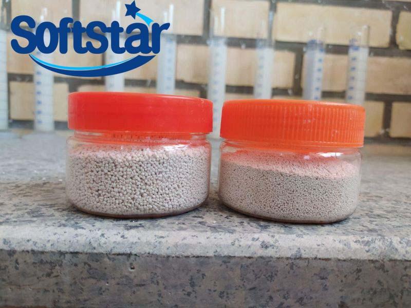 Bentonite-based fabric softener granules